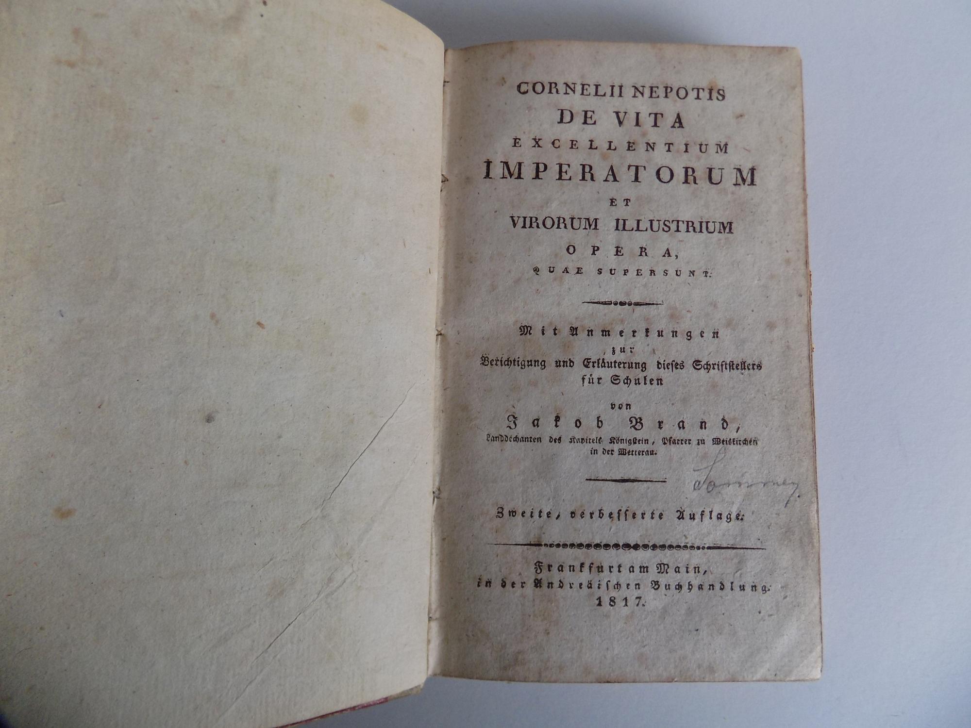 Cornelii Nepotis De vita excellentium imperatorum et: Nepos, Cornelius /