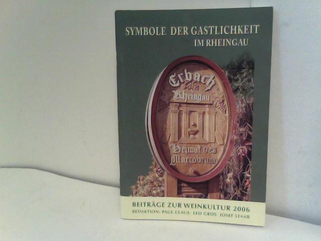 Symbole der Gastlichkeit im Rheingau - Beiträge: Gesellschaft für Rheingauer