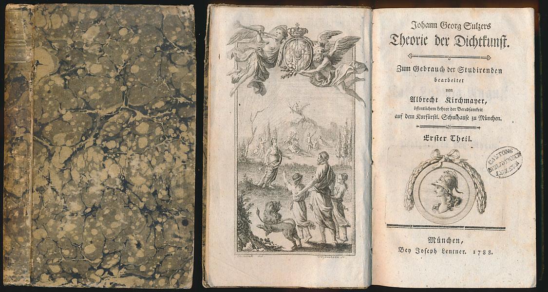 Johann Georg Sulzers Theorie der Dichtkunst. [Band: Sulzer, Johann Georg: