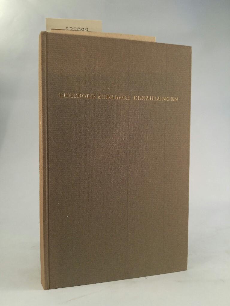 Erzählungen: Eine Auswahl: Auerbach, Berthold: