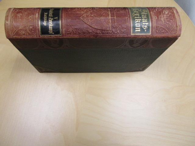 Staatslexikon. Dritte, neubearbeitete und vierte Auflage. Unter: Bachem, Dr. Julius