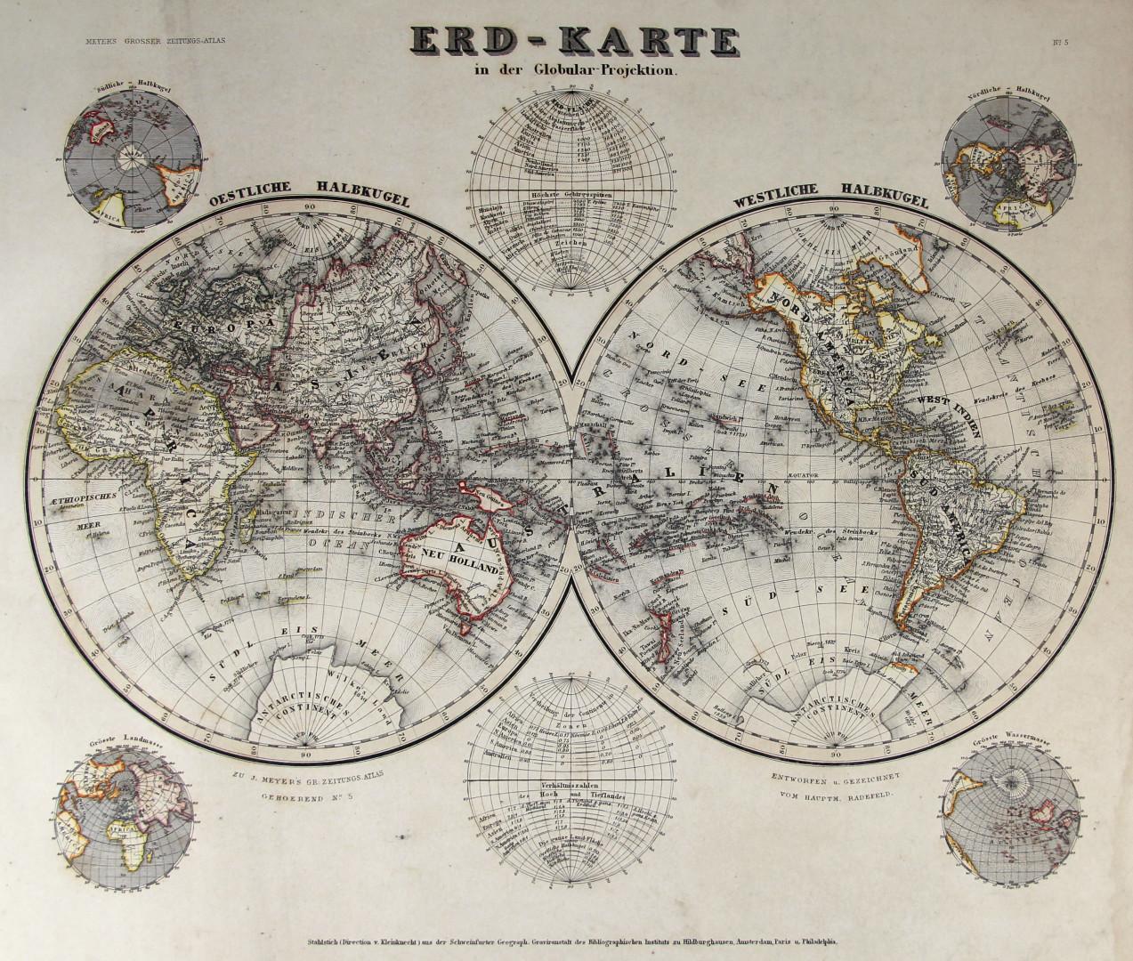 Oberamt Biberach Bauser Hand-Atlas REPRINT der KARTE von 1885 Erolzheim Höfen