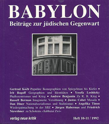 Babylon. Beiträge zur jüdischen Gegenwart. Heft 10-11,: Brumlik, Micha, Dan