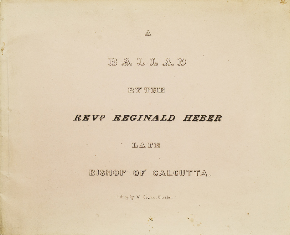 A Ballad: An Old and Approved Receipt: Heber, Reginald, Rev