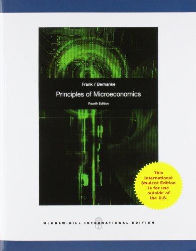 Principles of Microeconomics - Robert H., Frank und Bernanke Ben S.