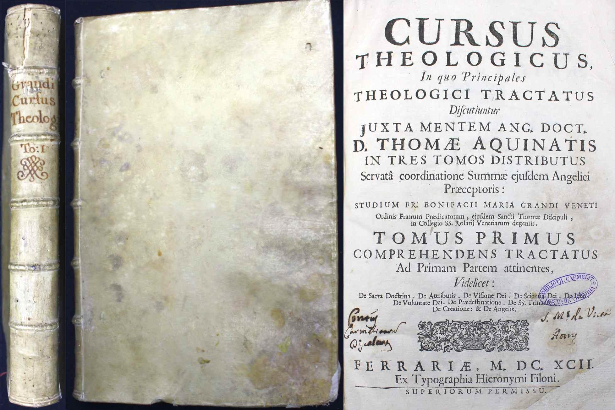 Cursus theologicus. In quo principales theologici tractatus: Aquin, Thomas von