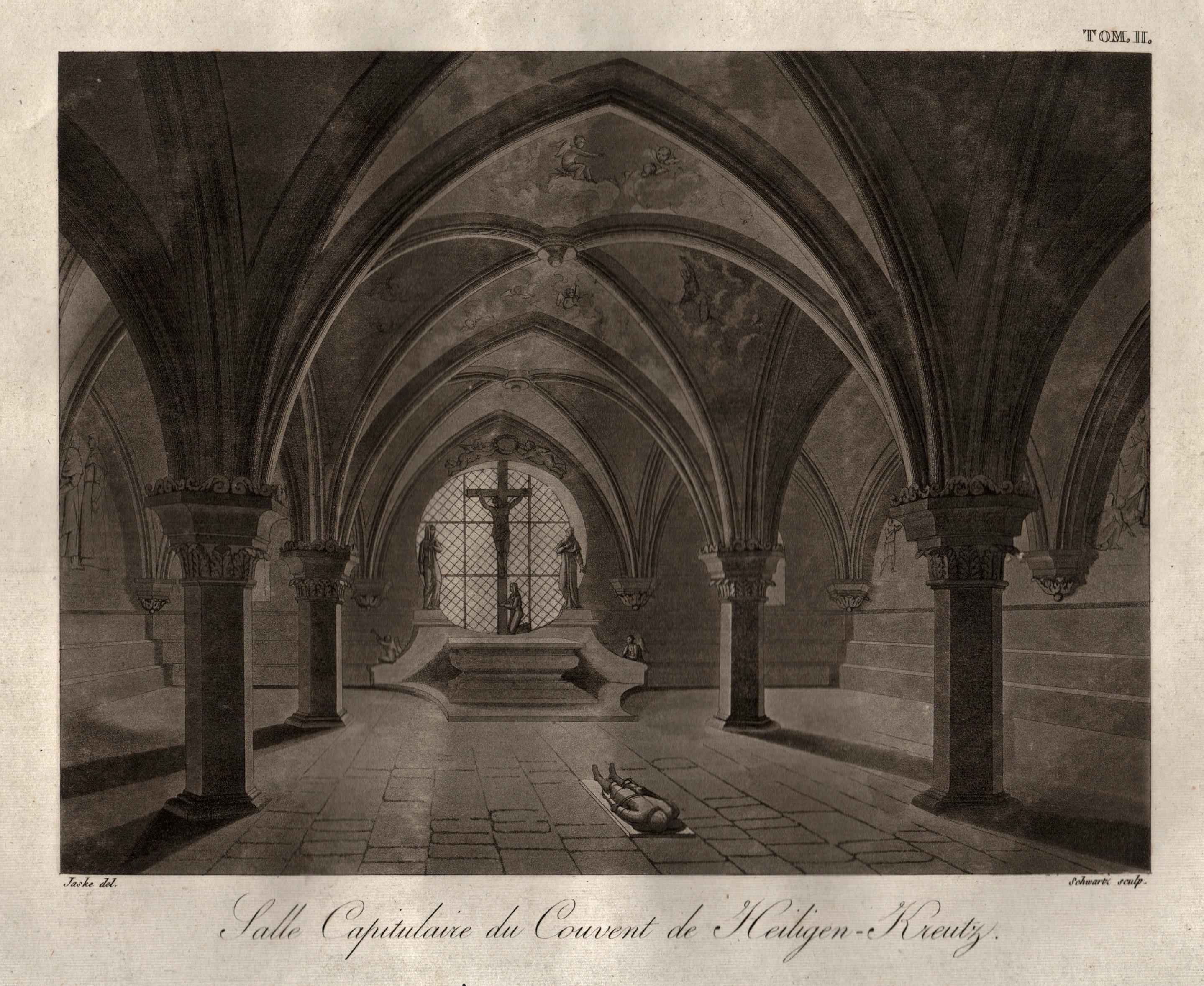 """Zisterzienserkloster (innen), """"Salle Capitulaire du Couvent de: Heiligenkreuz/Niederöster.:"""