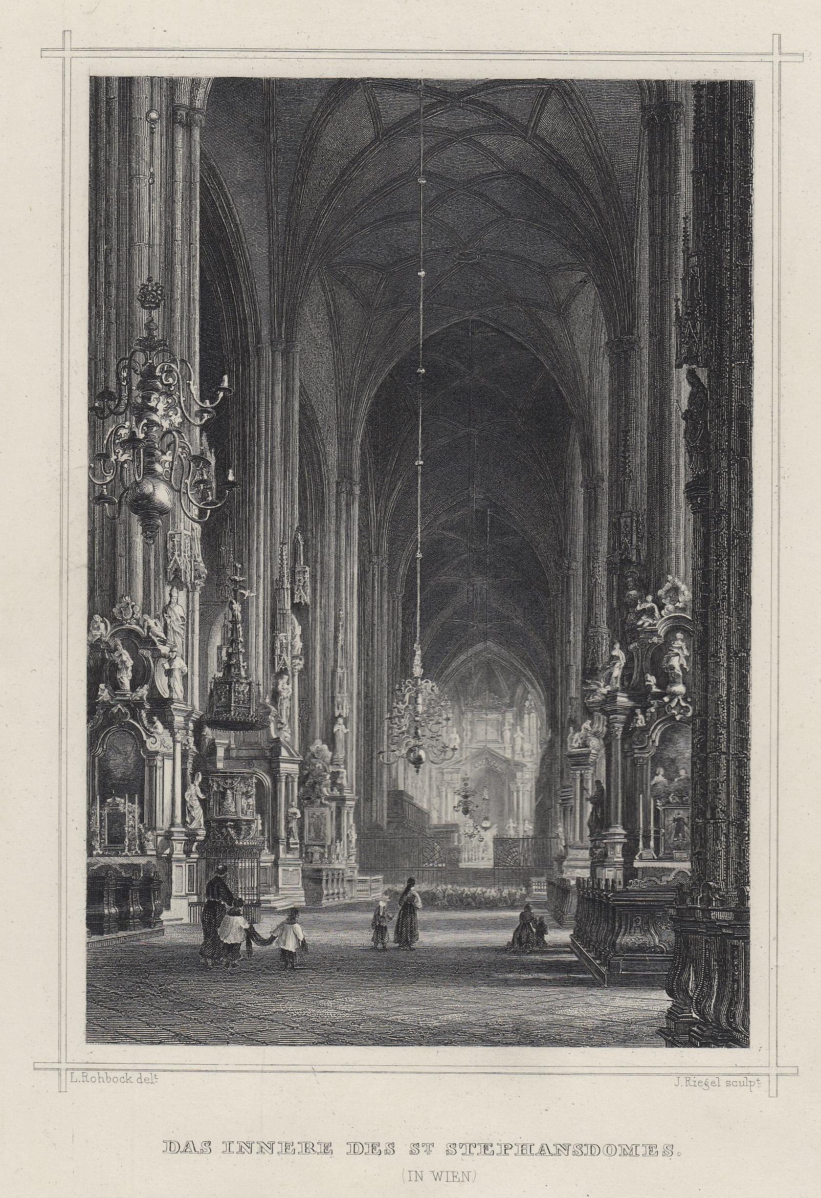 TA., Stephansdom (Innenansicht).: Wien ( Vienna