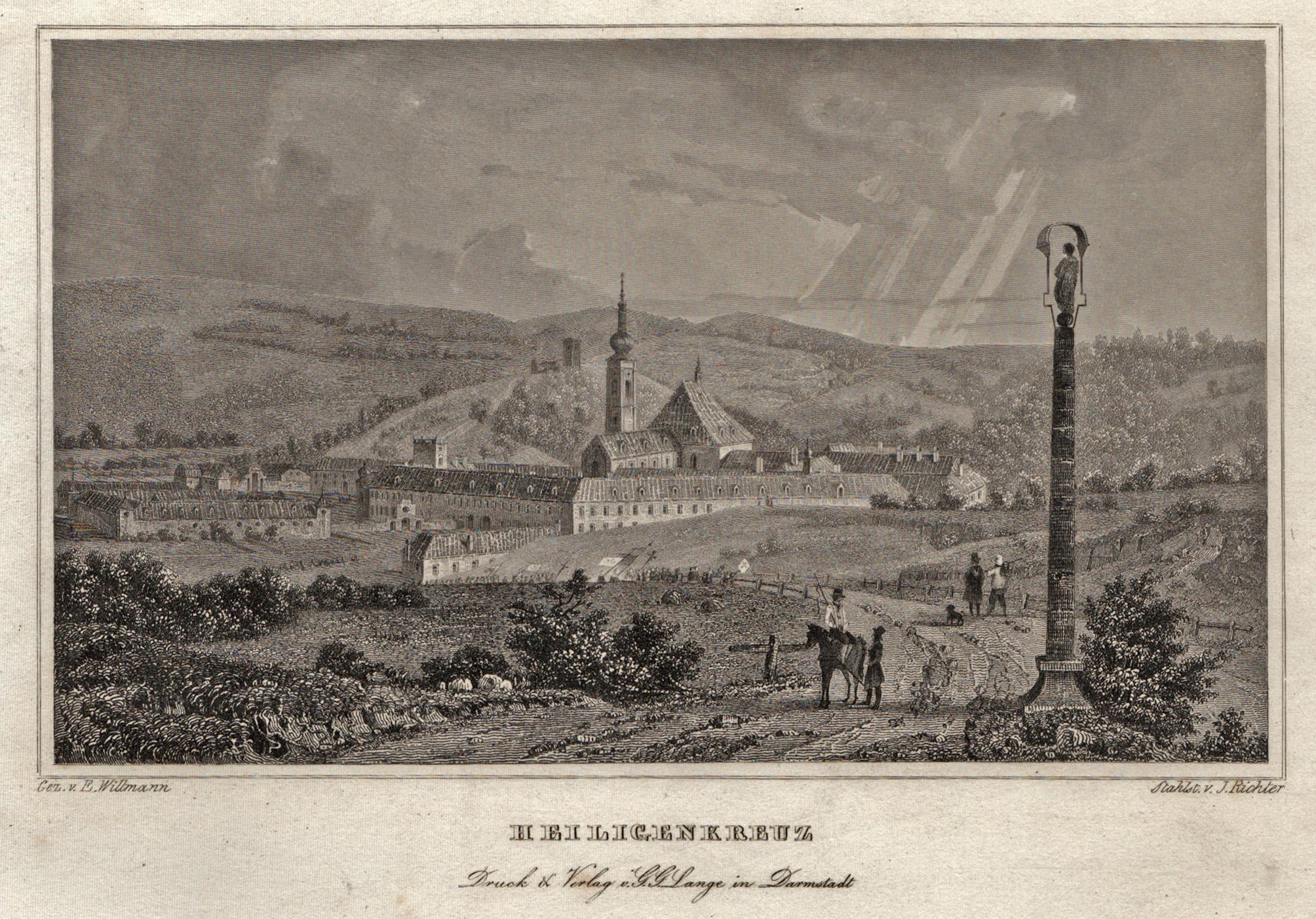 Blick zum Zisterzienserkloster.: Heiligenkreuz/Niederöster.: