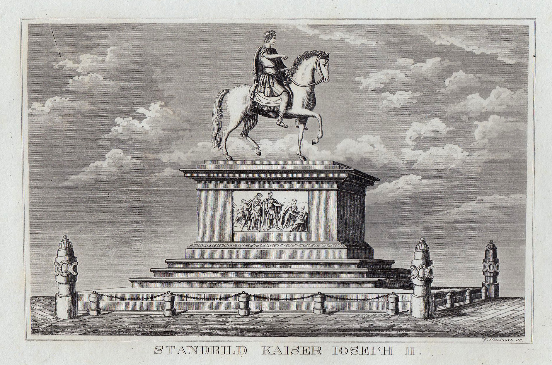 TA., Denkmal Josef II.: Wien ( Vienna