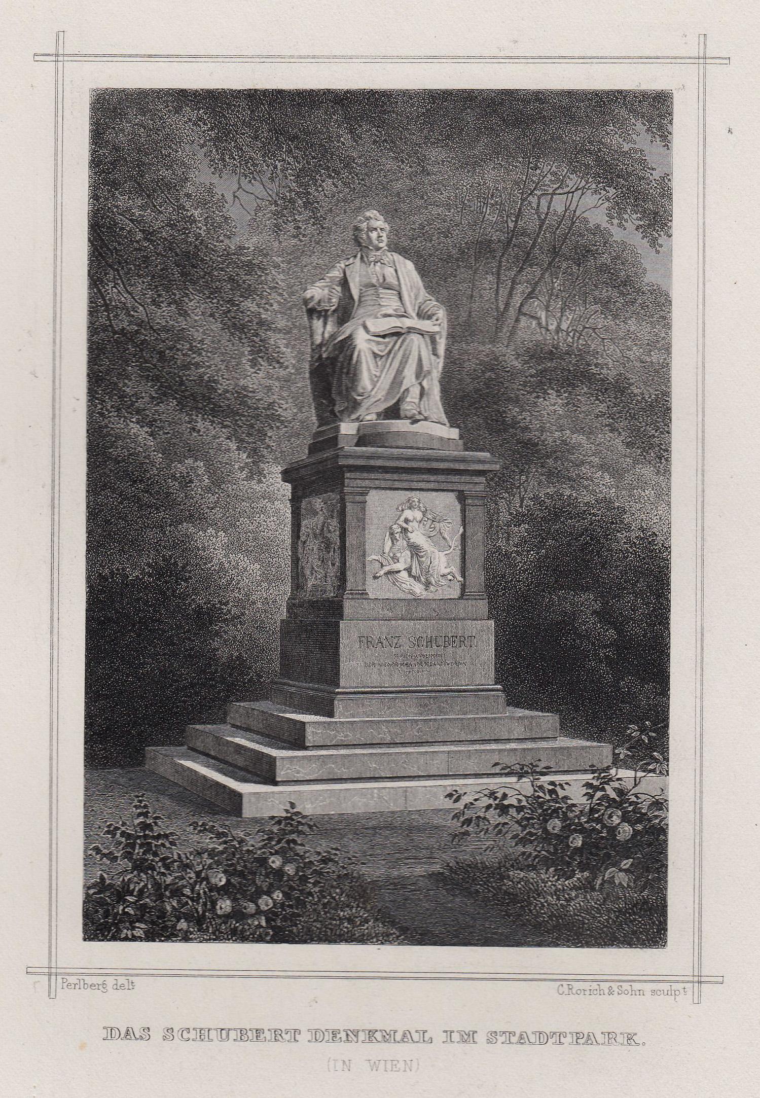"""TA., Denkmal, """"Das Schubert Denkmal im Stadtpark"""".: Wien ( Vienna"""