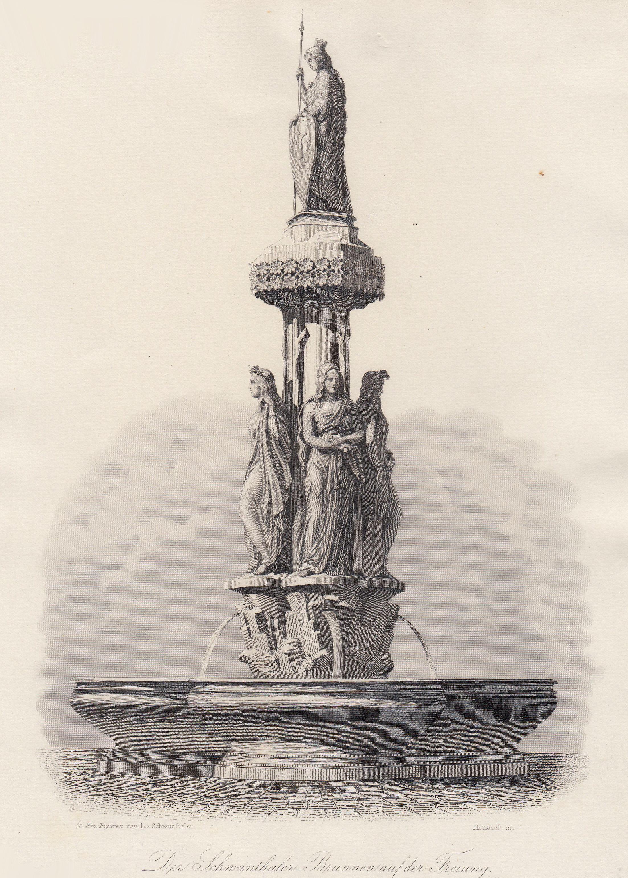 """TA., Freyung, """"Der Schwanthaler -Brunnen auf der: Wien ( Vienna"""