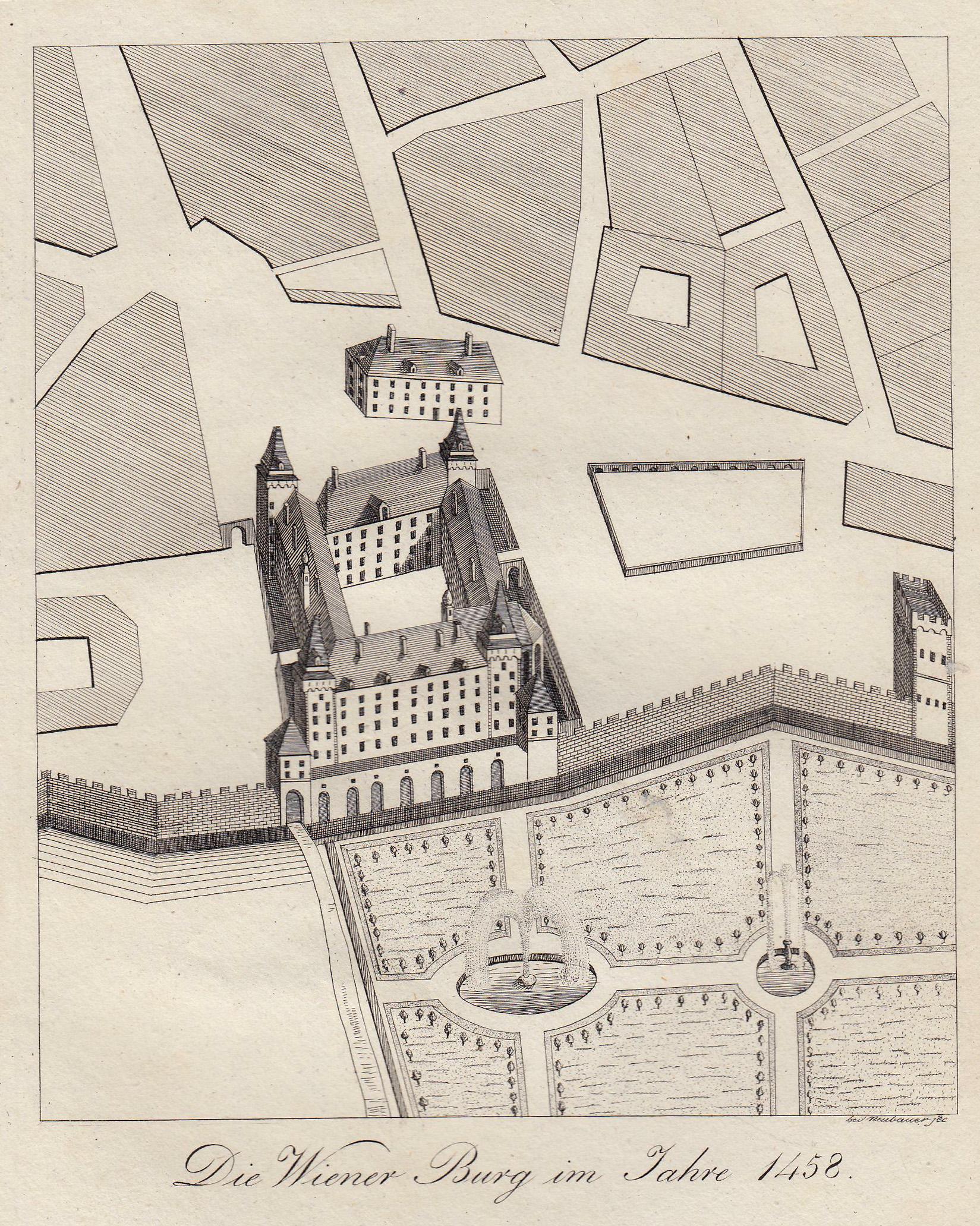 """TA., Hofburg, Vogelschauansicht, """"Die Wiener Burg im: Wien ( Vienna"""
