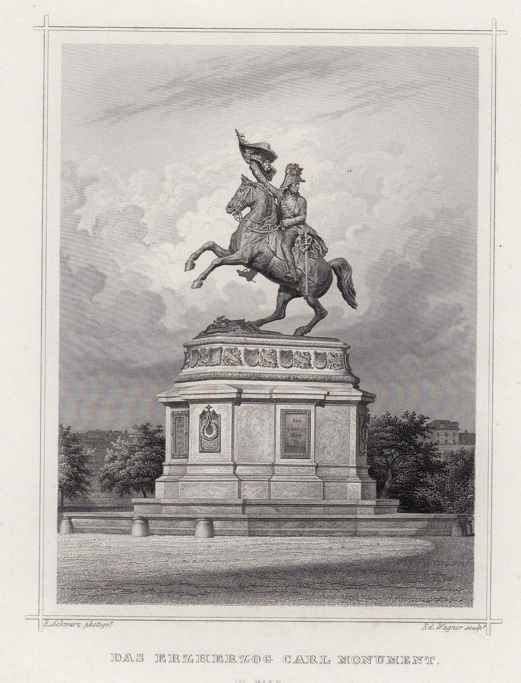 """TA., Denkmal, """"Erzherzog Carl."""".: Wien ( Vienna"""