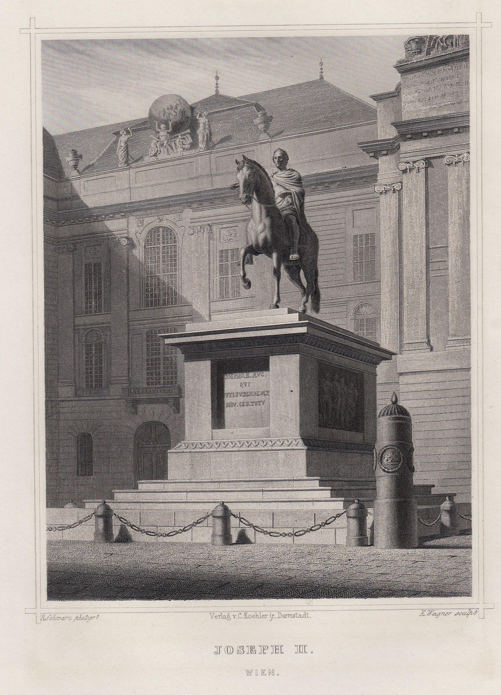 "TA., Denkmal, ""Joseph II."".: Wien ( Vienna"