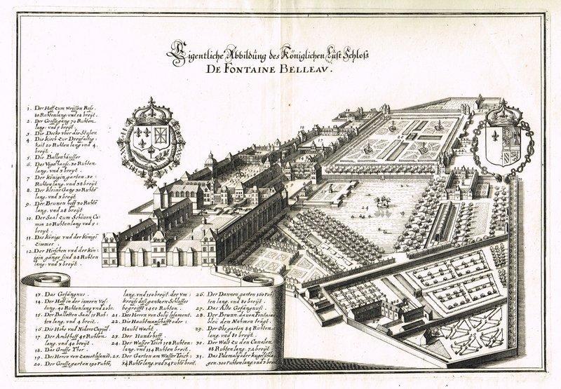 Eigentliche Abbildung des Königlichen Lust Schloß De: FONTAINEBLEAU