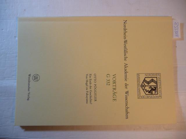 Ein Ende der Geschichte? : Von Hegel: Pöggeler, Otto