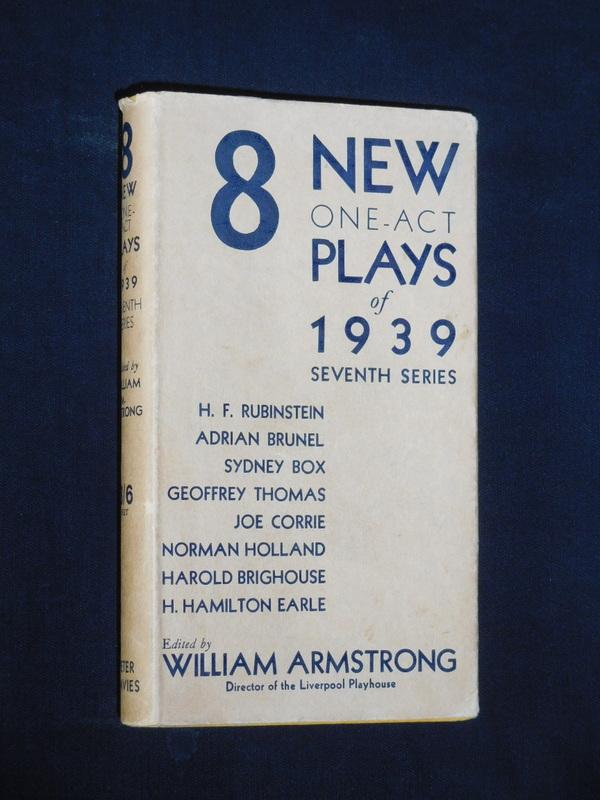 8 New One-Act Plays of 1939 (Seventh: H. F. Rubinstein,