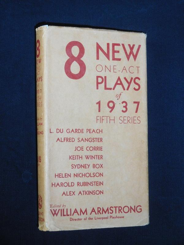 8 New One-Act Plays of 1937 (Fifth: H. F. Rubinstein,