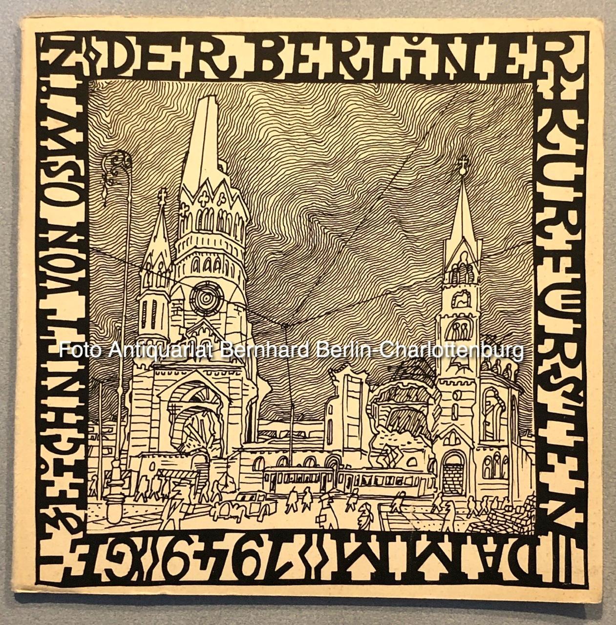 Der Berliner Kurfürstendamm 1949. Gezeichnet von Oswin: Oswin