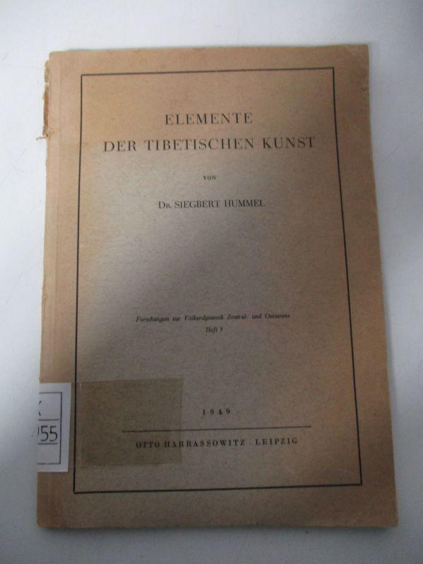 Elemente der tibetischen Kunst. (= Forschungen zur: Hummel, Siegbert,