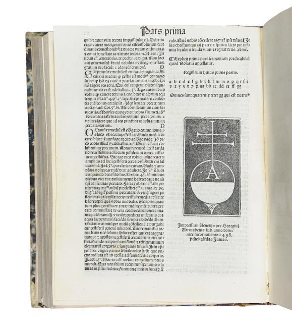 Rosarium sermonum. (Mit Beigaben von Illuminatus Novariensis: Bustis (Busti), Bernardinus