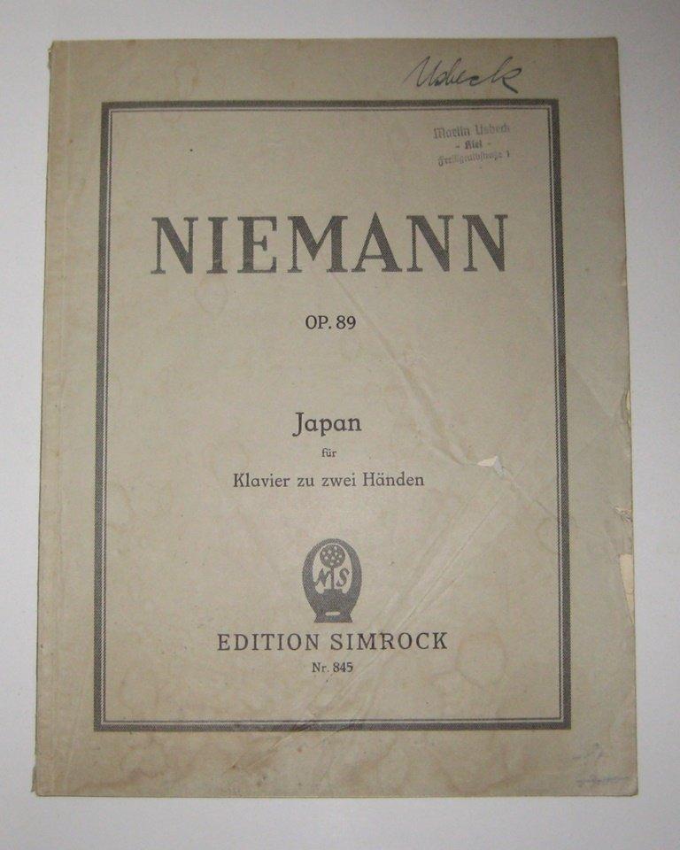 Japan. Ein Zyklus für Klavier. Op. 89.: Niemann, Walter:
