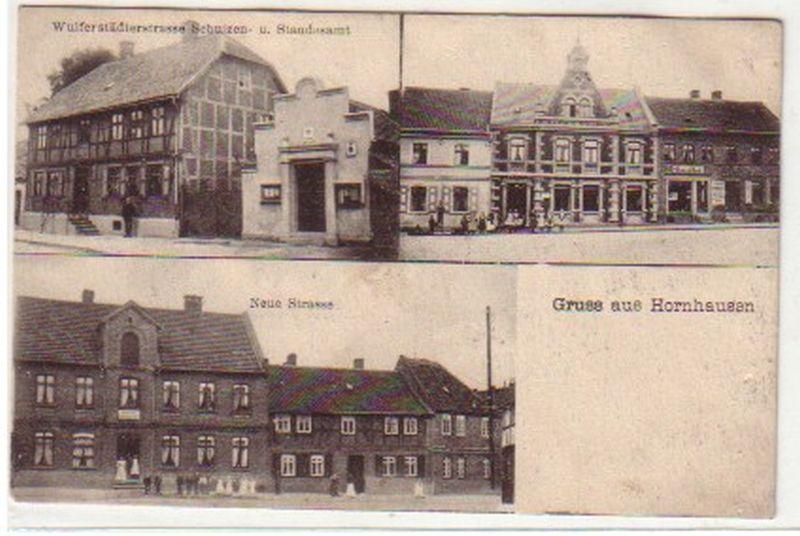 19438 Mehrbild Ak Gruß aus Hornhausen Gasthof: Sammeln & Seltenes