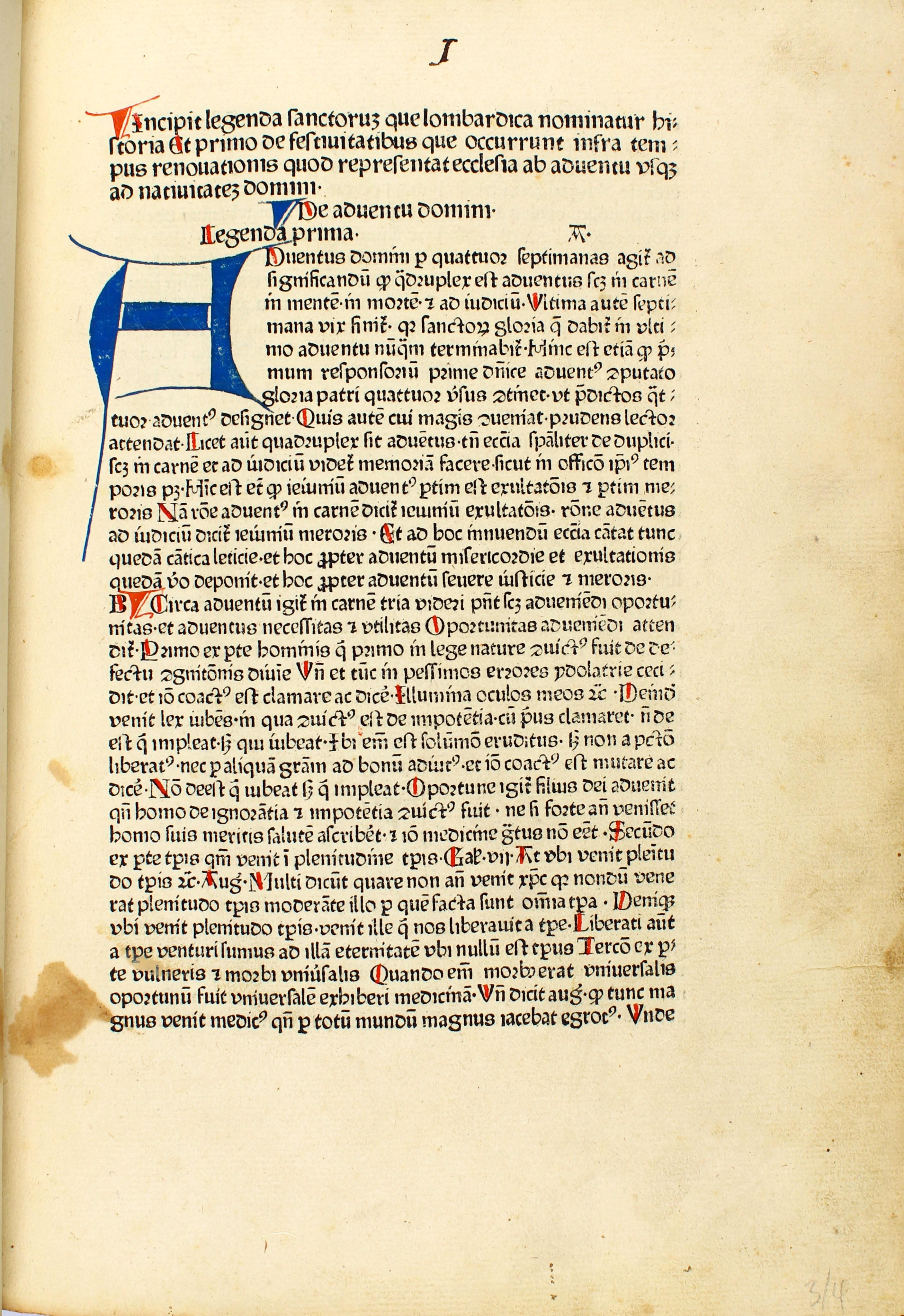 Legenda aurea sanctorum, sive Lombardica historia.: Jacobus ,