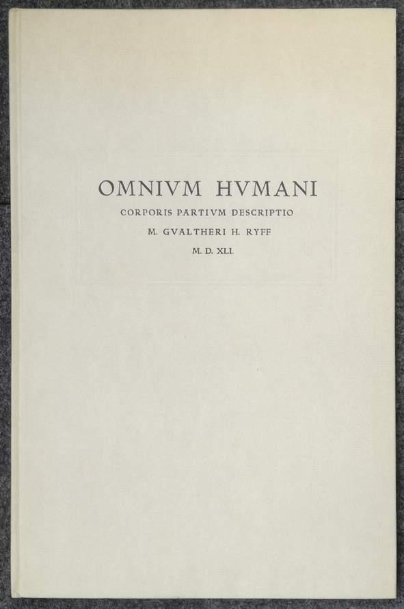 Omnium Humani. Corporis partivm descriptio. Die zehn: Pfister, Arnold: