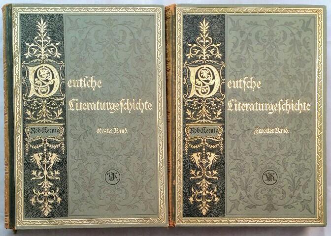 Deutsche Literaturgeschichte [2 Bände].: König , Robert