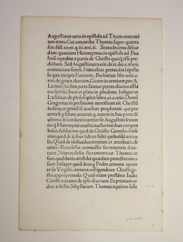 Discordantiae sanctorum doctorum Hieronymi et Augustini (GW: Philippus de Barberiis: