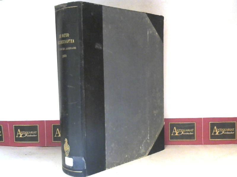 Die Naturwissenschaften - 18.Jg.1930. (Wochenschrift für die: Berliner, Arnold (Hrsg.):
