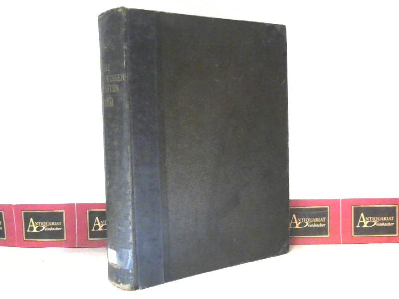 Die Naturwissenschaften - 17.Jg.1929. (Wochenschrift für die: Berliner, Arnold (Hrsg.):
