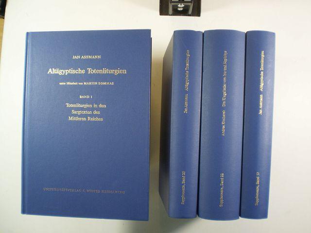 Altägyptische Totenliturgien - Assmann, Jan / Bommas, Martin / Kucharek, Andrea