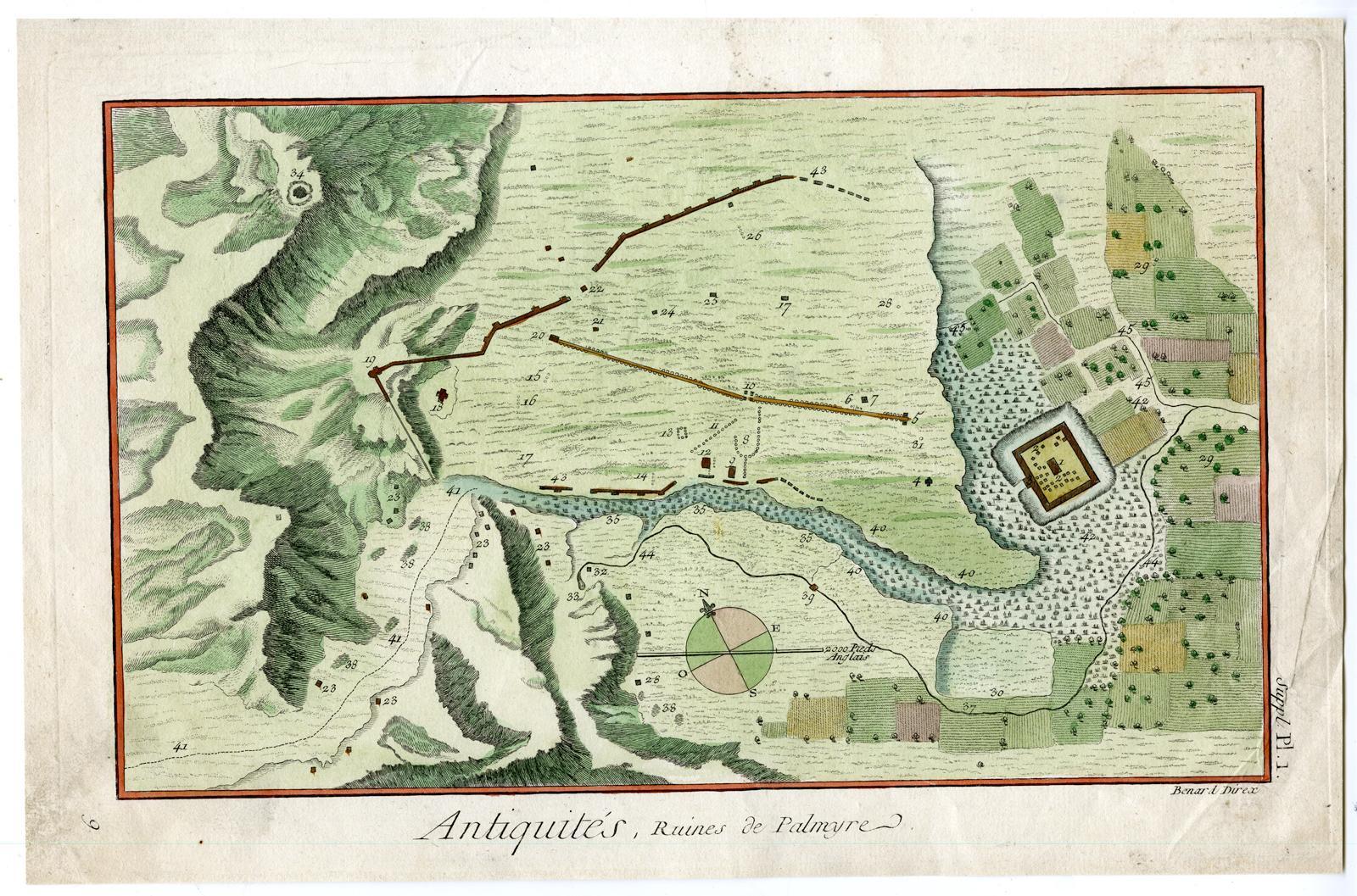 Antique Print-PALMYRA RUINS-SYRIA-Diderot-Alembert-Benard-1751: Benard