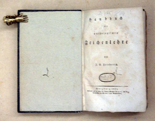 Handbuch der pathologischen Zeichenlehre.: Friedreich, J. B.