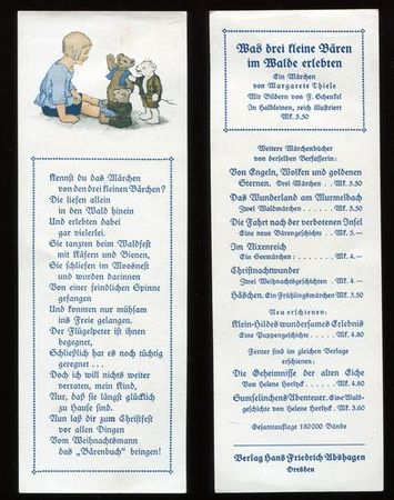 Lesezeichen / Werbung für Märchen von Margarete: Thiele, Margarete: