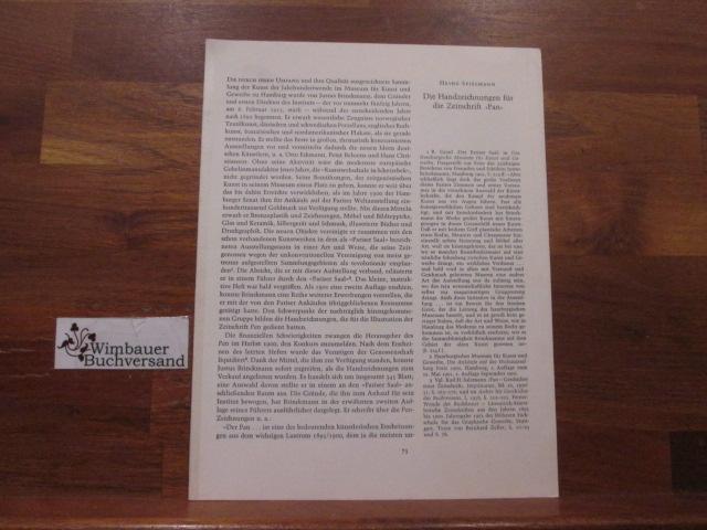 Die Handzeichnungen für die Zeitschrift Pan.- Reprint/Sonderdruck: Spielmann, Heinz :