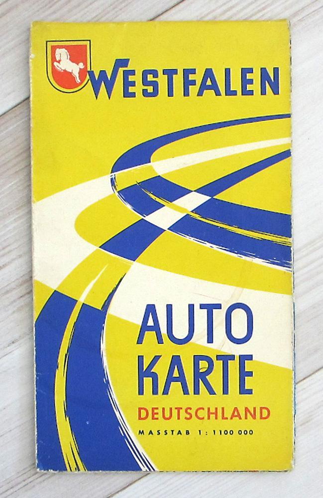 Autokarte Deutschland .: Westfalen AG;