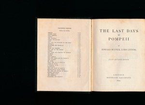 The Last Day of Pompeii,Collection of British: Bulwer, Edward -