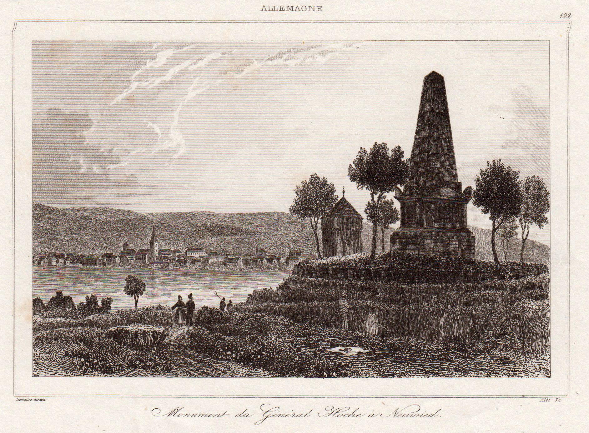 Gesamtans., übern Rhein, m. Hoche Denkmal.: Neuwied: