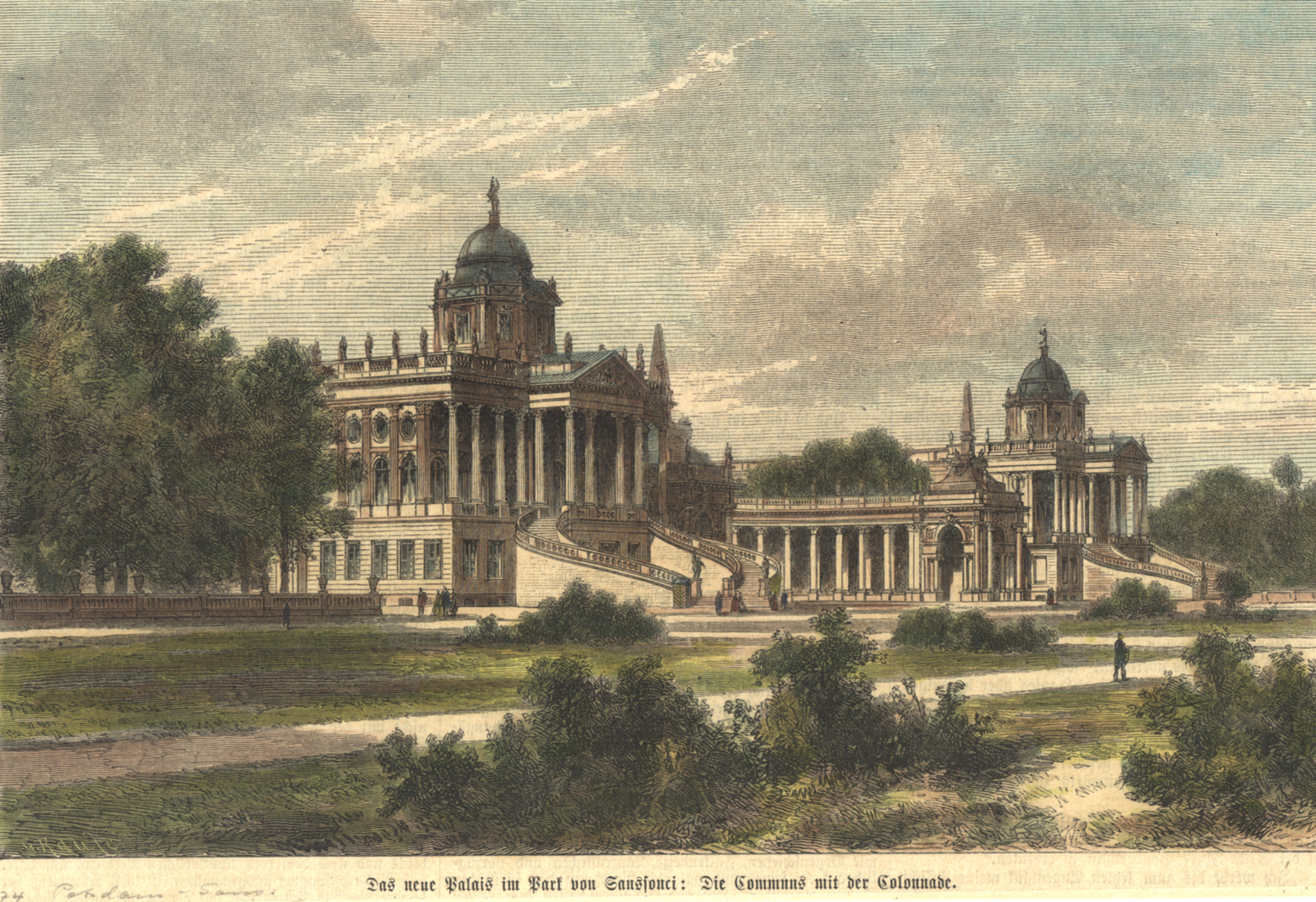 "Neues Palais, ""Das Neue Palais in Park: Potsdam - Park"