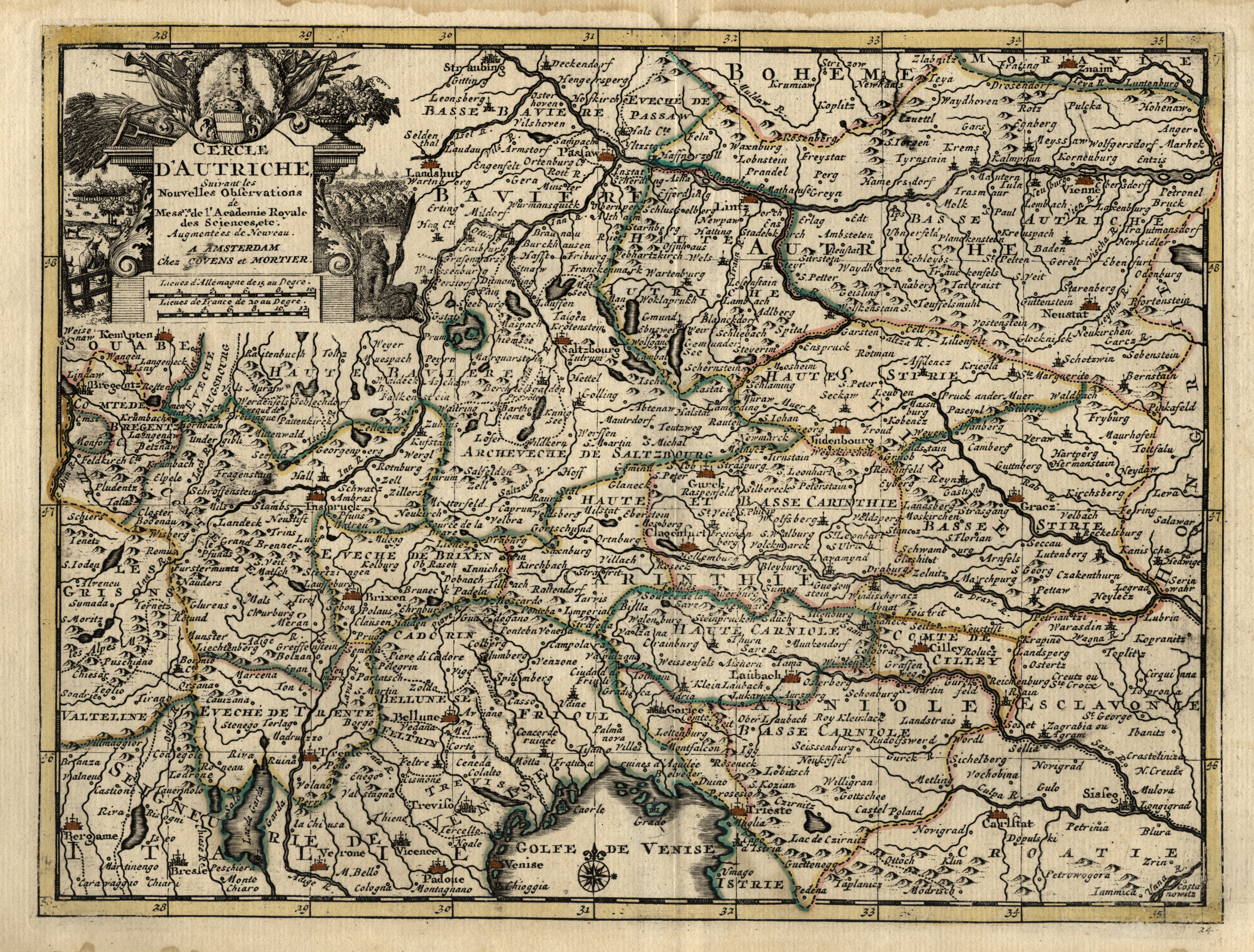 "Kst.- Karte, b. Covens & Mortier, ""Cercle: Österreichischer Kreis:"