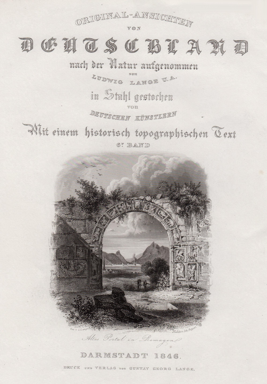 TA., altes Portal, mit Blick ins Rheintal.: Remagen: