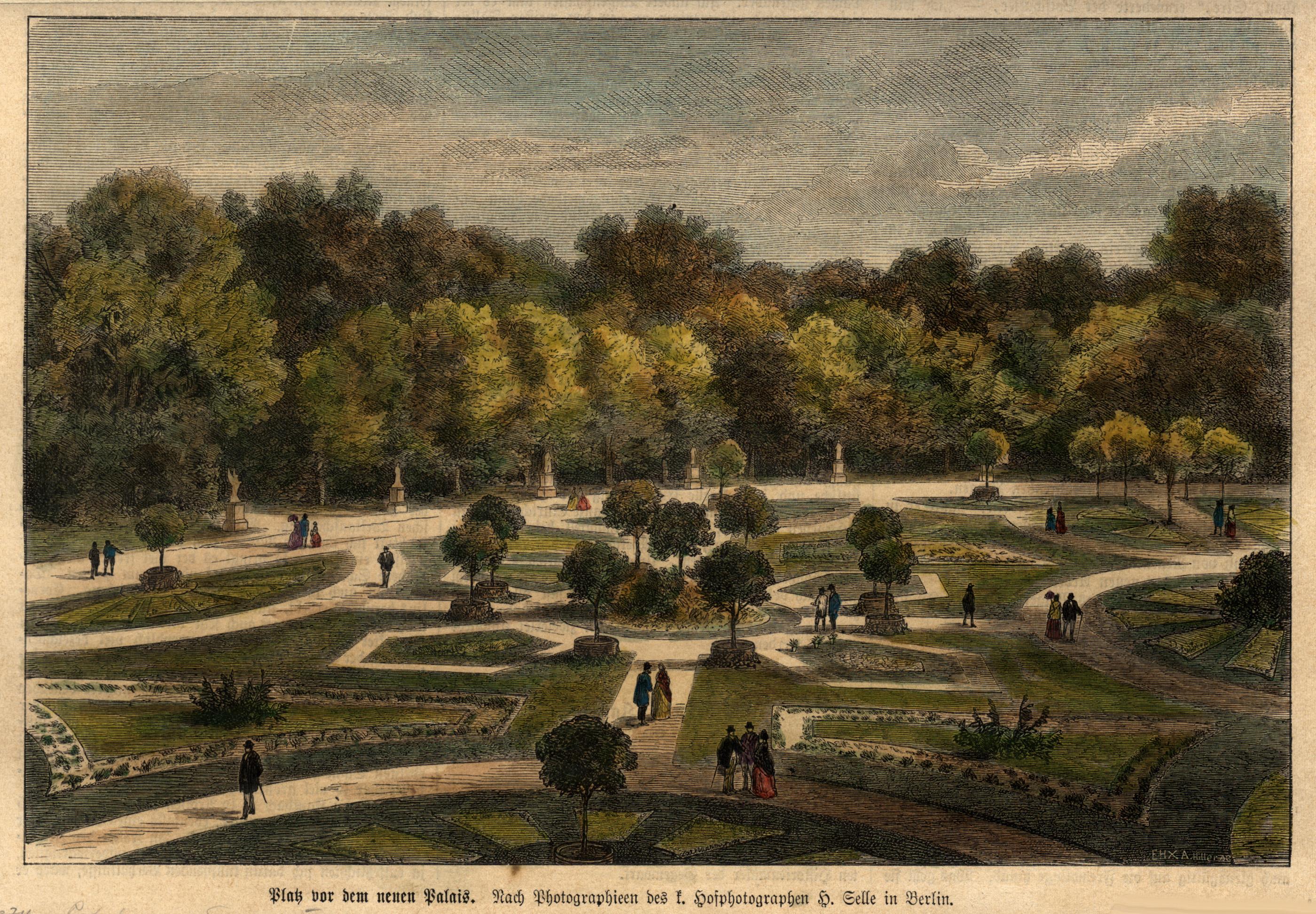 "Neues Palais, ""Platz vor dem Neuen Palais."".: Potsdam - Park"