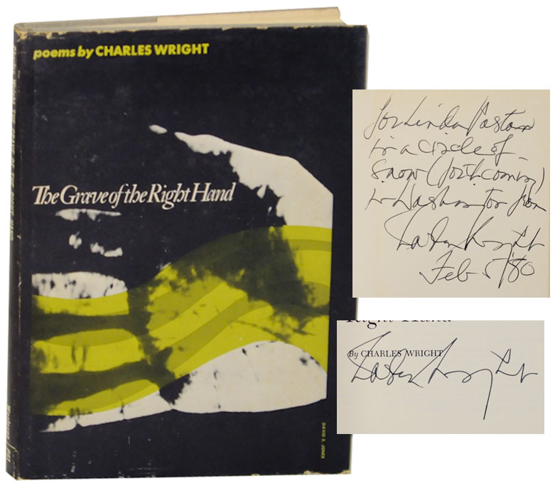 The Grave of the Right Hand (Signed Association Copy) - WRIGHT, Charles