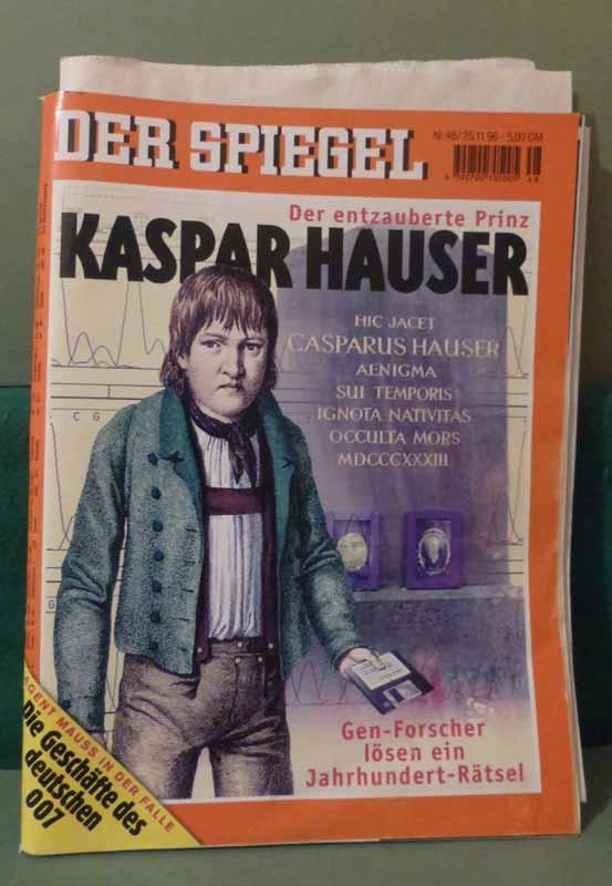 """Titelgeschichte im """"Spiegel"""", Nr 48/1996: """"Kaspar Hauser: Hauser, Kaspar. -"""