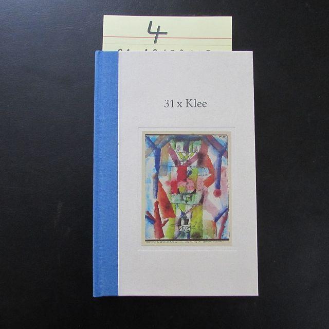 31 x Klee mit Gedichten (signierte Ausgabe): Scharpenberg, Margot, Paul