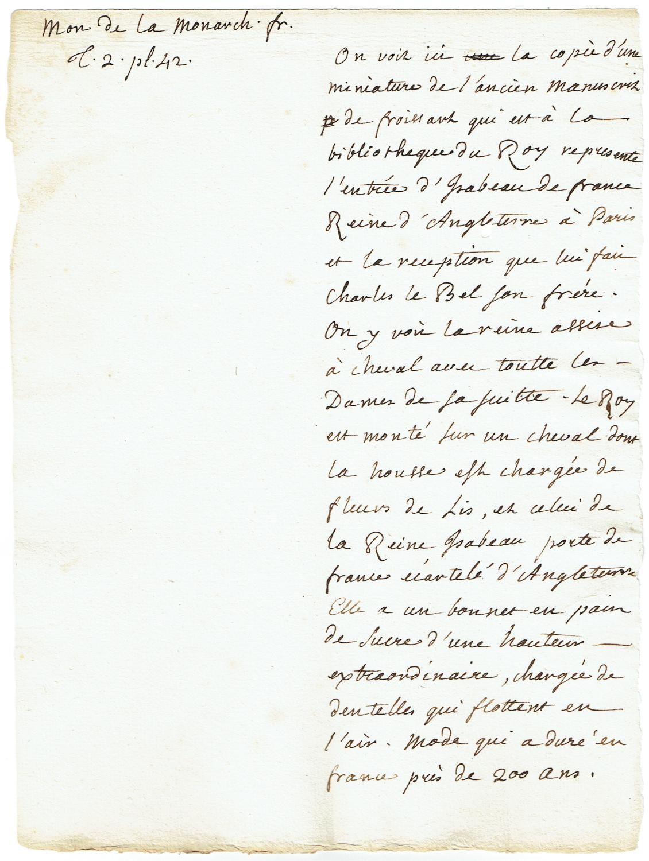 2 autograph manuscripts.: Rousseau, Jean-Jacques, philosopher